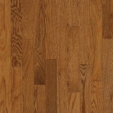 "Waltham Strip 2-1/4"" Solid White Oak Flooring in Gunstock"