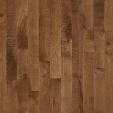 "Kennedale Prestige Plank 3-1/4"" Solid Dark Maple Flooring in Hazelnut"