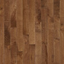 "Kennedale Strip 2-1/4"" Solid Dark Maple Flooring in Hazelnut"