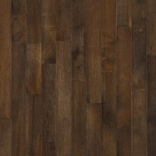 "Kennedale Strip 2-1/4"" Solid Dark Maple Flooring in Cappuccino"