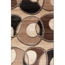 Pinnacle Beige/Brown Around the Block Area Rug