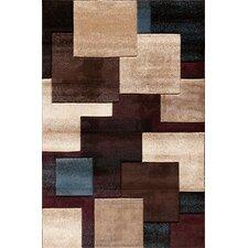 Pinnacle Black/Multi Strie Blocks Rug