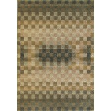 <strong>Central Oriental</strong> Images Calais Sea Green Checkered Rug