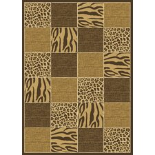 Radiance Skins Safari Brown Rug