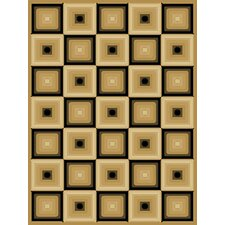 <strong>Central Oriental</strong> Blocks Dimensions Squares Beige/ Black Rug