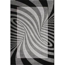 Oasis Waves Black/Grey Area Rug