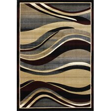 Pinnacle Summit Black Area Rug