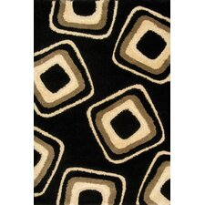 Miracle Black and Beige Nucleus Rug