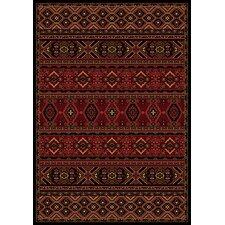 Radiance Crimson Aztec Mosaic Rug