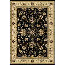 <strong>Central Oriental</strong> Radiance Black and Wheat Moreno Rug