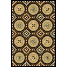 Paige Brown Deco Medallion Rug