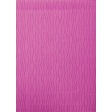 Tufted Scroll Pink Wave Rug