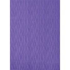 Tufted Scroll Purple Wave Rug