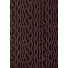 Tufted Scroll Chocolate Wave Rug