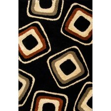 Miracle Black and Terracotta Nucleus Rug