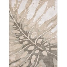 C. L. Hand-Tufted Coastal Ivory/Gray Area Rug