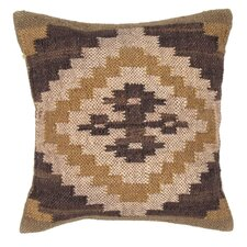 Bedouin Handmade Wool and Jute Pillow