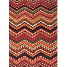 Red/Orange Geometric Rug