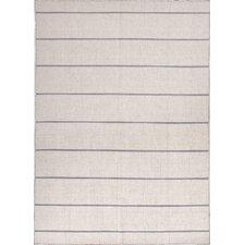 C. L. Dhurries Ivory/Gray Stripe Area Rug