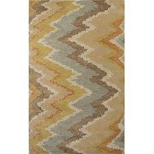 Cascade Blue/Brown Abstract Rug