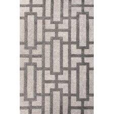 City Ivory & Gray Geometric Area Rug