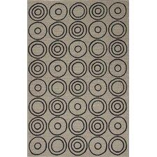 Grant Ivory/Black Geometric Indoor/Outdoor Area Rug