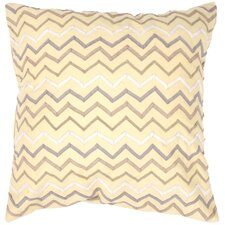 Landscape Contemporary Tribal Pattern Poly-Silk Pillow