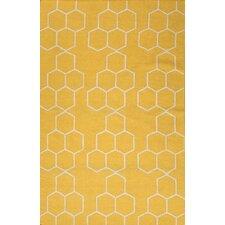 Maroc Yellow Geometric Area Rug