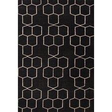 Maroc Geometric Black Area Rug
