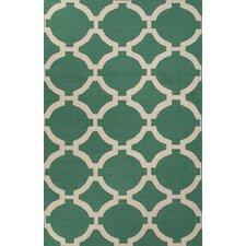 Maroc Emerald Green Geometric Area Rug
