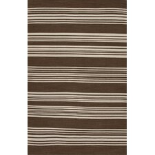 Pura Vida Brown/Ivory Stripe Rug