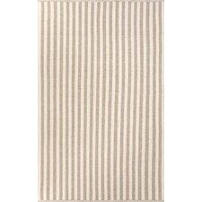 Playa Taupe/Ivory Cabana Stripe Rug