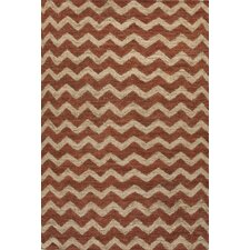 Naturals Treasure Ivory/Red Area Rug