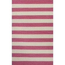 Pura Vida Pink/Ivory Stripe Area Rug