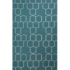 Maroc Geometric Blue/Ivory Area Rug