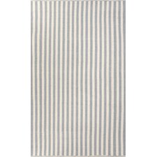 Playa Blue/Ivory Cabana Stripe Rug