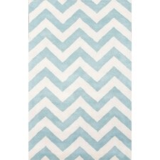 Traverse Geometric Blue/Ivory Rug