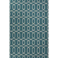 Urban Bungalow Geometric Blue/Ivory Rug