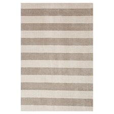 Konstrukt Gray/Black Stripe Rug