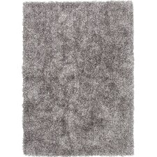 Flux Cool Gray Shag Area Rug
