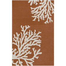Grant Bough Out Orange Gray Indoor/Outdoor Rug