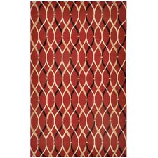 Brio Wavelength Deep Claret Rug
