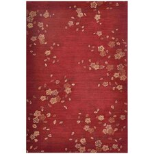 Brio Cherry Blossom Red Rug
