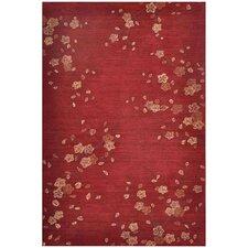Brio Cherry Blossom Red Rug