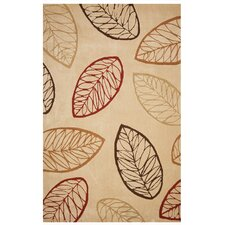 Brio Autumn Leaves Amber Gold Rug