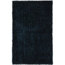Flux Teal Blue Shag Rug
