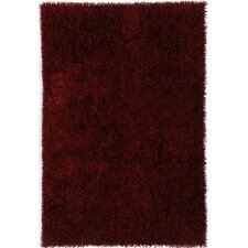 Flux Red Shag Area Rug