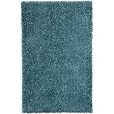 Flux Smoke Blue Shag Area Rug