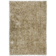 Flux Warm Gray Shag Area Rug
