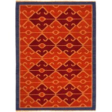Anatolia Red Oxide/Navy Tribal Rug